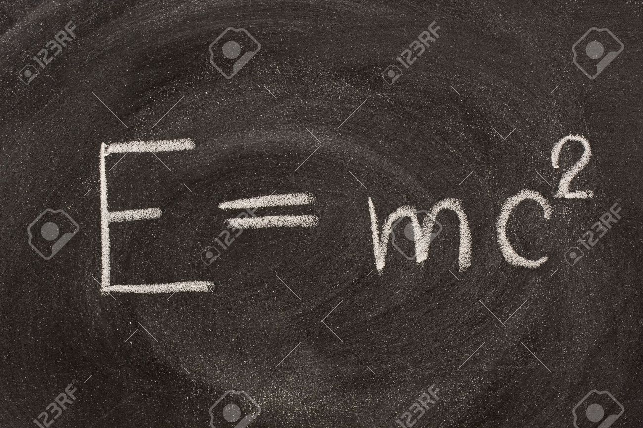 Energy E Albert Einstein Well Known Physical Formula E Mc2 Describing
